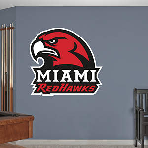 Miami Redhawks Logo Fathead Wall Decal